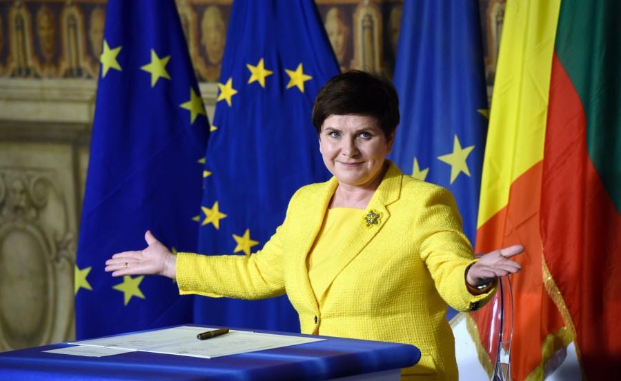 Premier RP Beata Szydło podczas uroczystości upamiętniających 60. rocznicę podpisania Traktatów Rzymskich