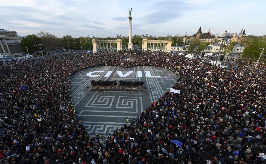 Protesty na Węgrzech