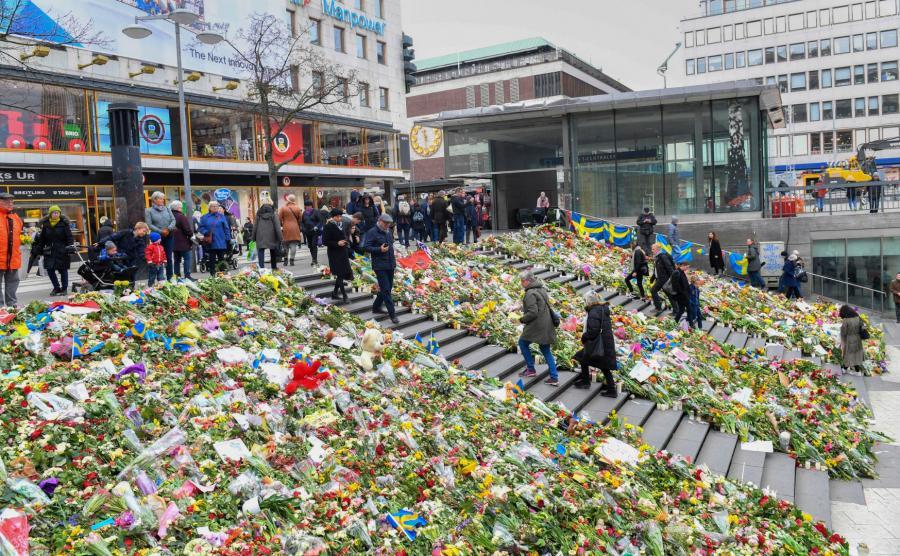 Miejsce zamachu w Sztokholmie