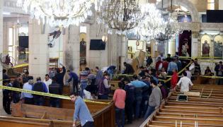 Koptyjski kościół po zamachu