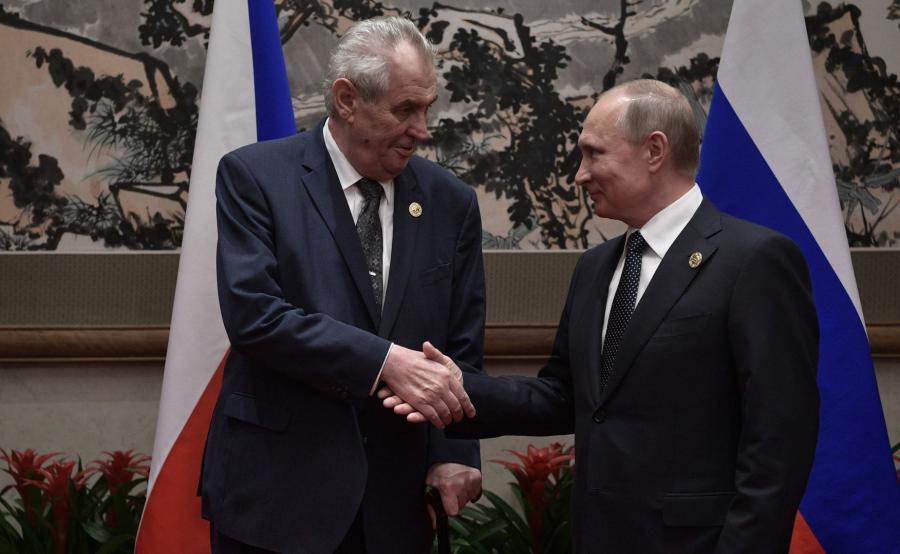Milosz Zeman i Władimir Putin