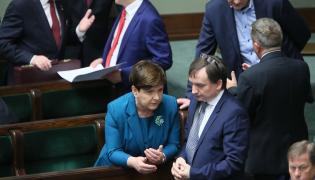 Premier Beata Szydło i minister Zbigniew Ziobro