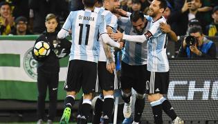 Radość reprezentantów Argentyny