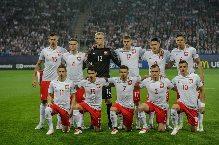 Reprezentacja Polski przed meczem ze Słowacją w grupie A piłkarskich mistrzostw Europy U21