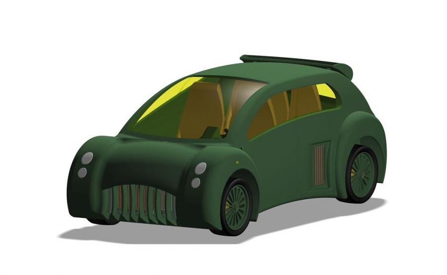 Łukasz Chłopek jest autorem tego projektu polskiego auta elektrycznego