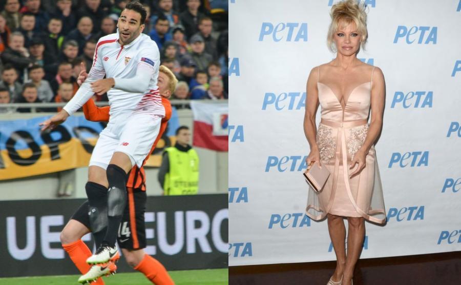 Adil Rami i Pamela Anderson