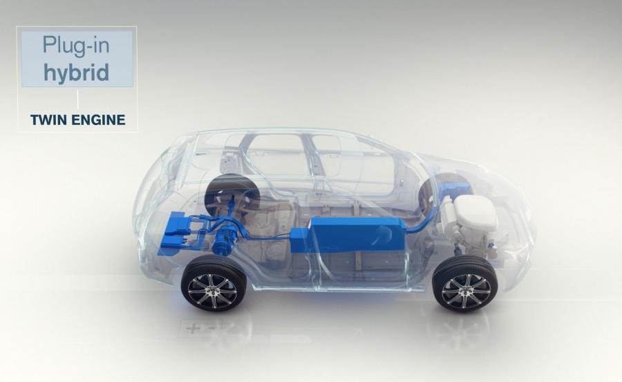Volvo z napędem hybrydowym typu plug-in (ładowanie z gniazdka)
