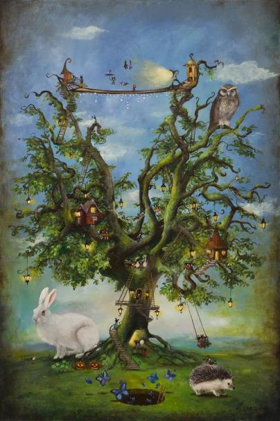 Patrycja Kruszyńska-Mikulska – z cyklu 'Z kroniki leśnych ludzi', Drzewo zabaw