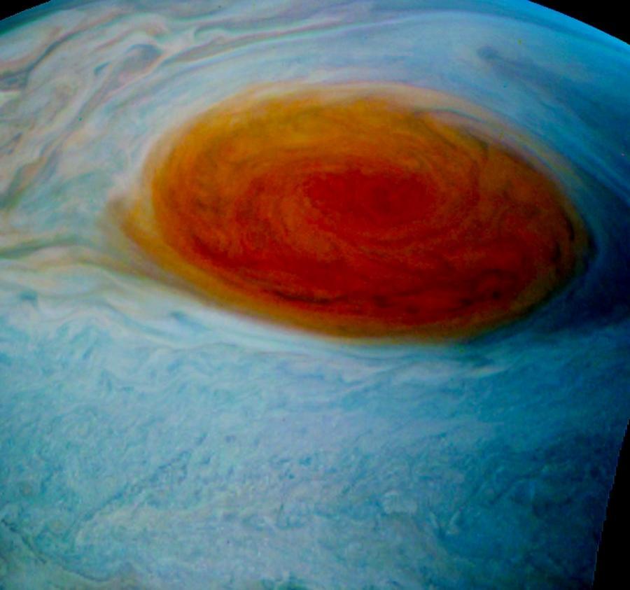 Czerwona plama na Jowiszu / Fot. Tom Momary