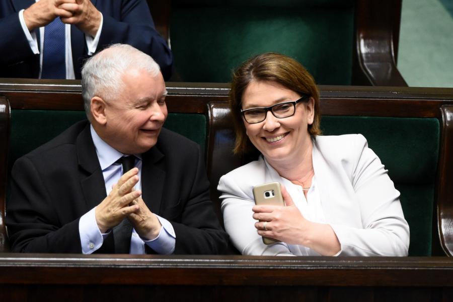 Beata Mazurek, Jarosław Kaczyński PiS