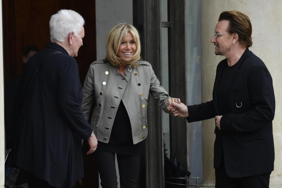 Brigitte Macron i Bono