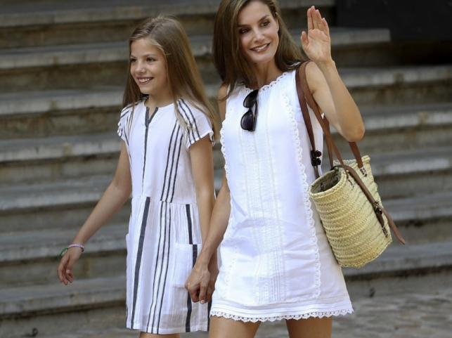 Królowa Letizia i księżniczka Sofia