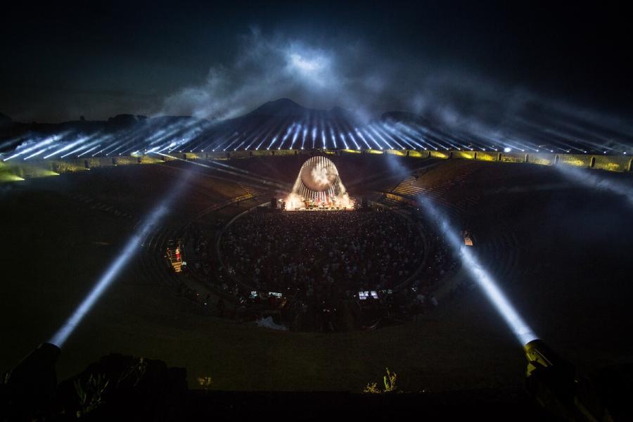 David Gilmour - koncert w Pompejach