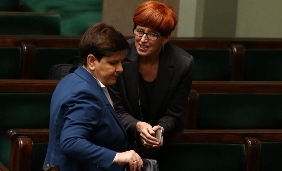 Beata Szydło i Elżbieta Rafalska