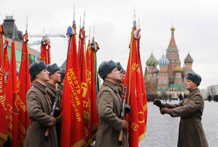 Przygotowania do parady w Moskwie