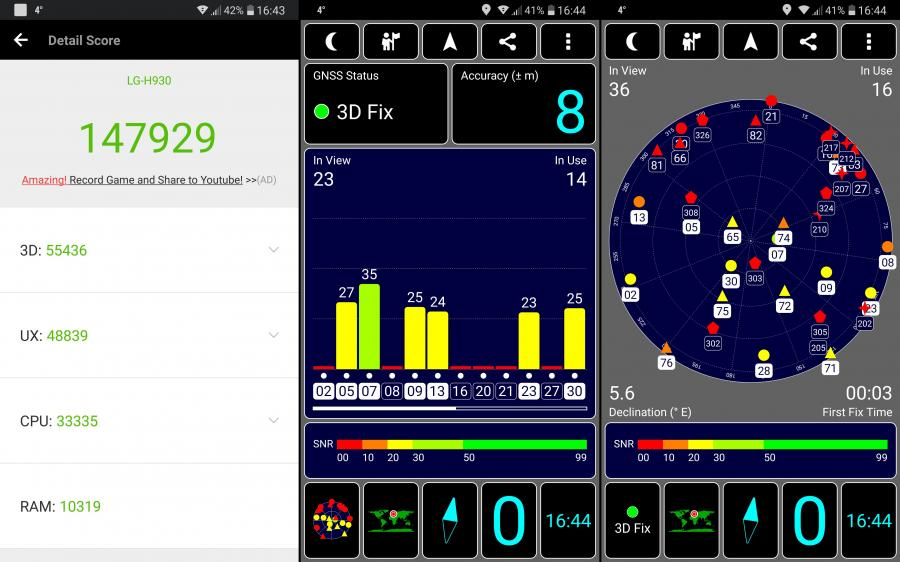AnTuTu Benchmark, GPS