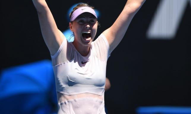 To nie był konkurs miss mokrego podkoszulka. Upał na Australian Open dał się mocno we znaki Marii Szarapowej [FOTO]
