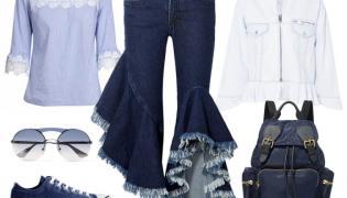 Wiosna w denimie. STYLIZACJA: Bluzka-Midori Feminine Fashion, spodnie, kurtka, buty, dodatki-TK Maxx