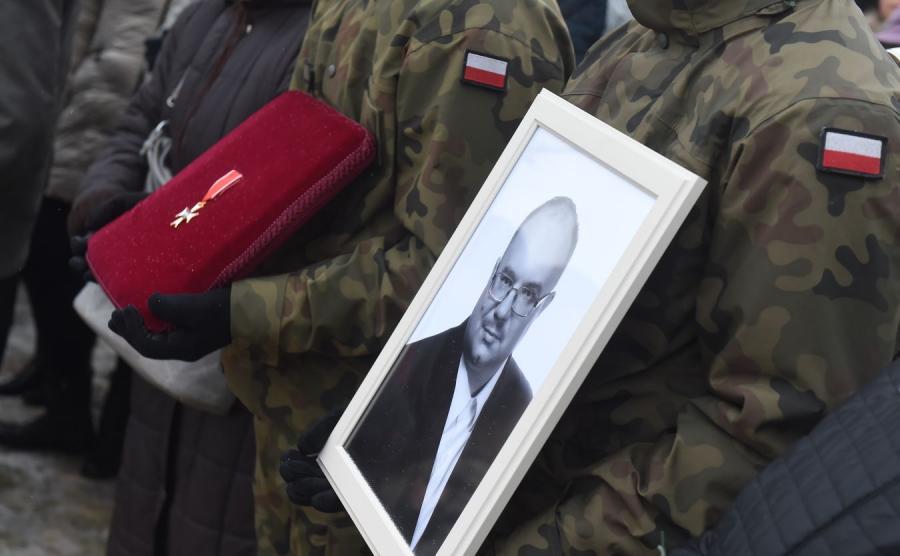 Uroczystości pogrzebowe Rafała Wójcikowskiego