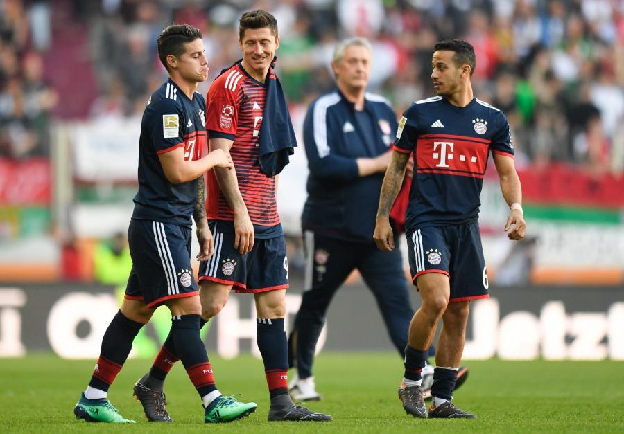 James Rodriguez, Robert Lewandowski i Thiago Alcantara