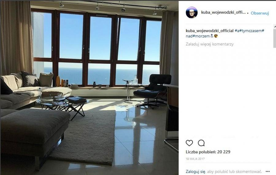 Kuba Wojewódzki i jego apartament w Gdyni
