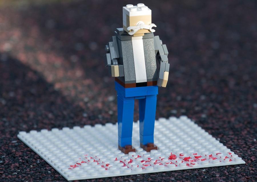 Lech Wałęsa w wersji Lego  (Photo Lars Moller)