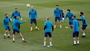 Trening piłkarzy Realu Madryt