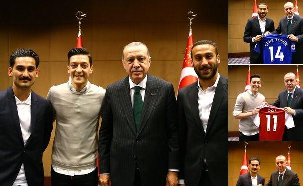 Piłkarze reprezentacji Niemiec spotkali się z prezydentem Turcji