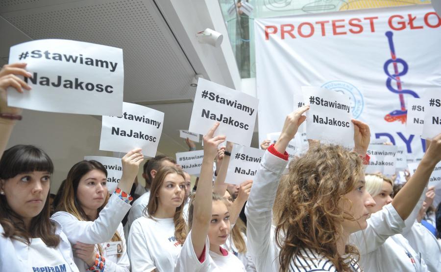 Strajk młodych lekarzy