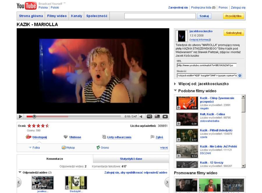 YouTube zablokuje polskie teledyski