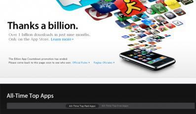 AppStore'owi stuknął miliard