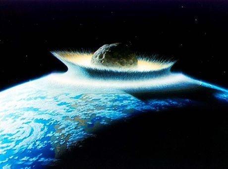PHOTO: EAST NEWS/SIPA PRESSArtist\'s concept of a catastrophic asteroid impact with the Earth. Life near the impact would be instantly wiped out from the effects of high temperatures and pressures. Injection of huge masses of dust (and gases) into the atmosphere would effectively block out sunlight for long periods of time to the point that most life could not be sustained (\