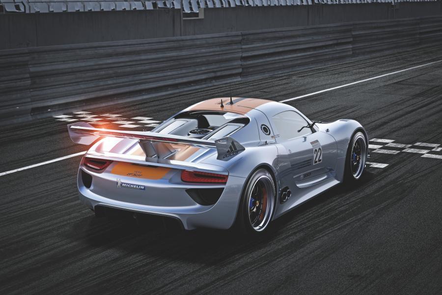 Porsche 918 RSR Racing Lab - oto rakieta na prąd