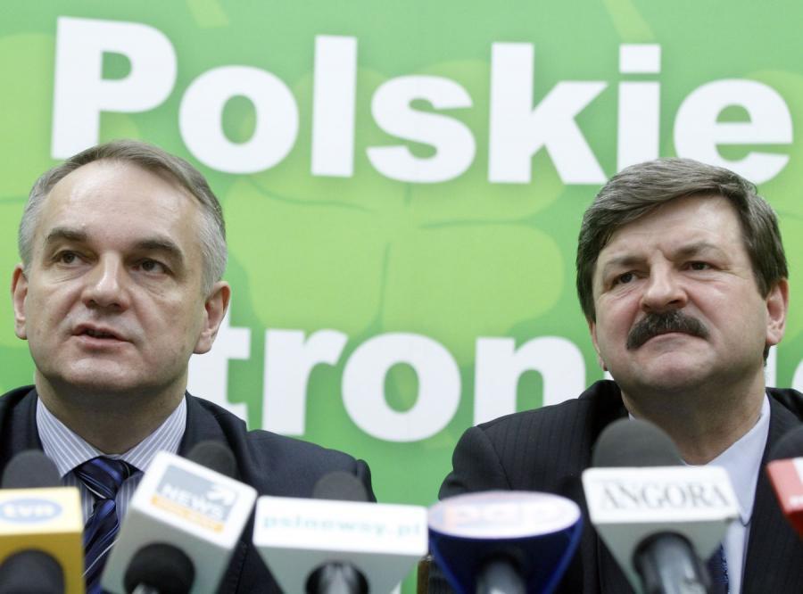 Waldemar Pawlak i Jarosław Kalinowski