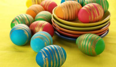 Wielkanocne pisanki na złoto