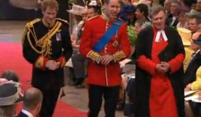 Książę William i jego brat Harry już w Opactwie Westminsterskim