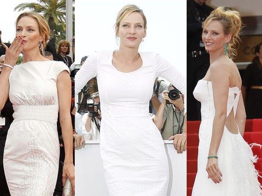 Potrójnie piękna Uma Thurman w Cannes 2011