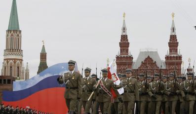 Polscy żołnierze na defiladzie w Moskwie