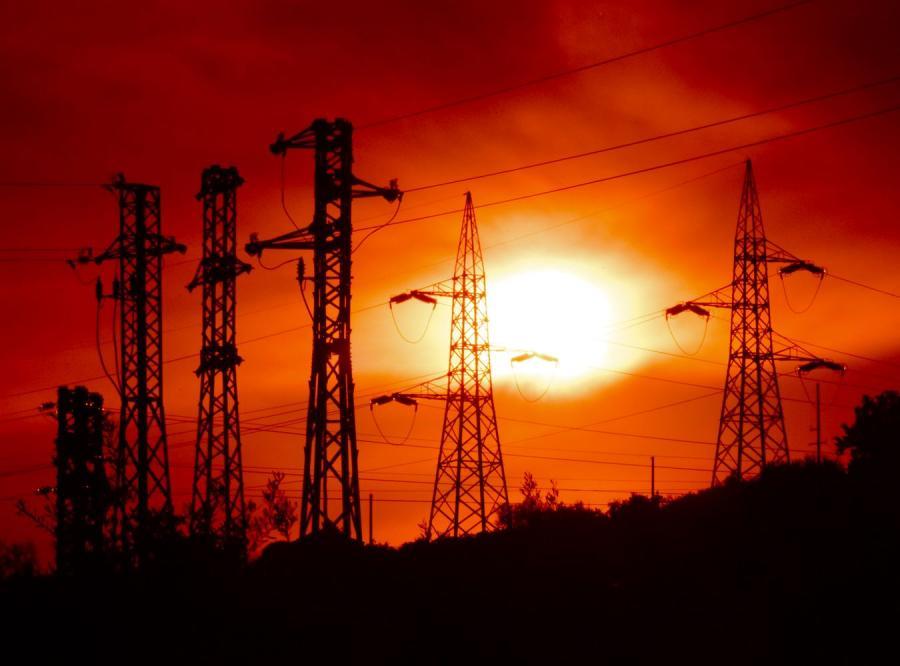 Słupy energetyczne, zdjęcie ilustracyjne