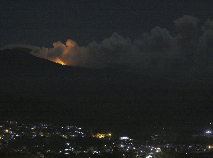 Erupcja wulkanu Mount Lokon
