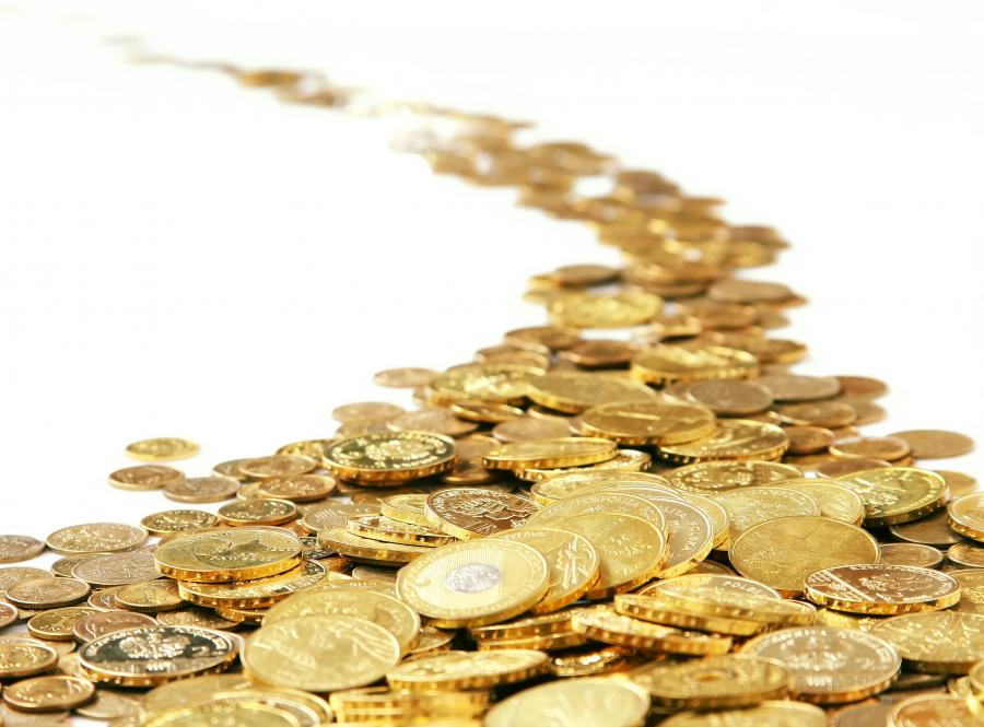 Ścieżka usypana z monet