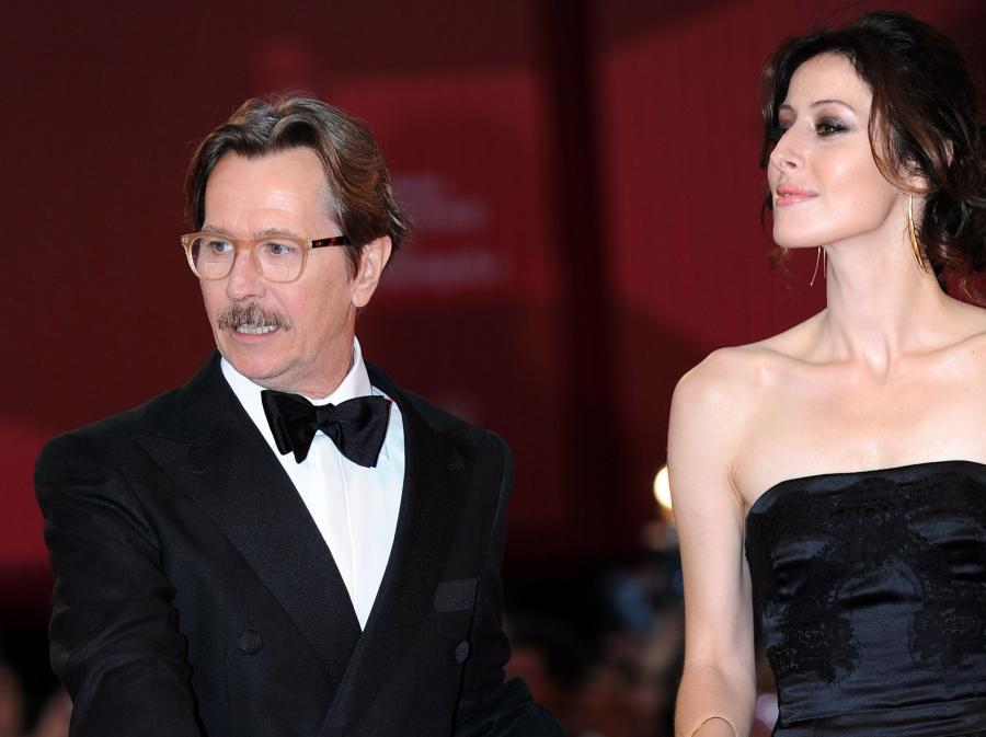 Gary Oldman z żoną Alexandrą Edenborough