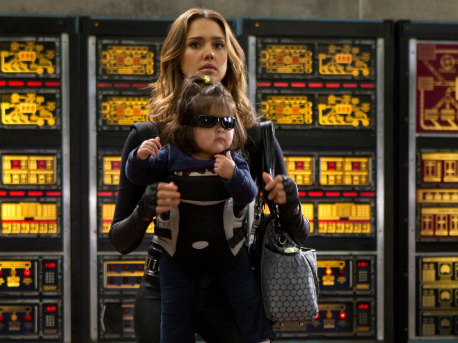 Jessica Alba i bardzo mały agent