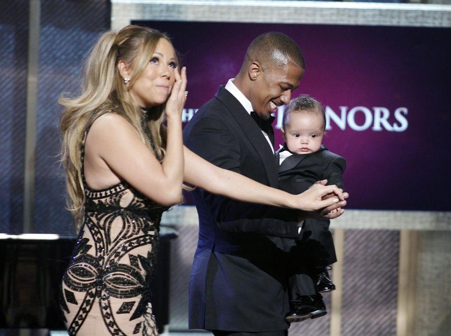 Mariah Carey, jej mąż Nick Cannon i ich dziecko