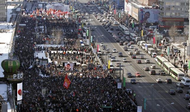 Marsz opozycji w Moskwie