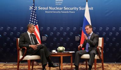 Barack Obama i Dmitrij Miedwiediew