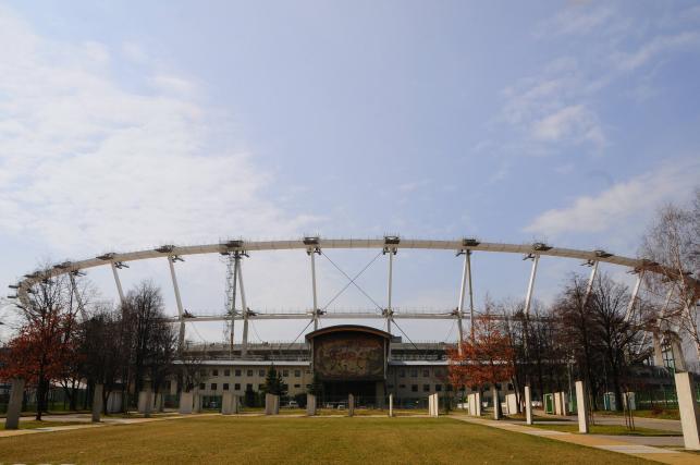 Zdjęcie z przebudowy Stadionu Śląskiego - front stadionu