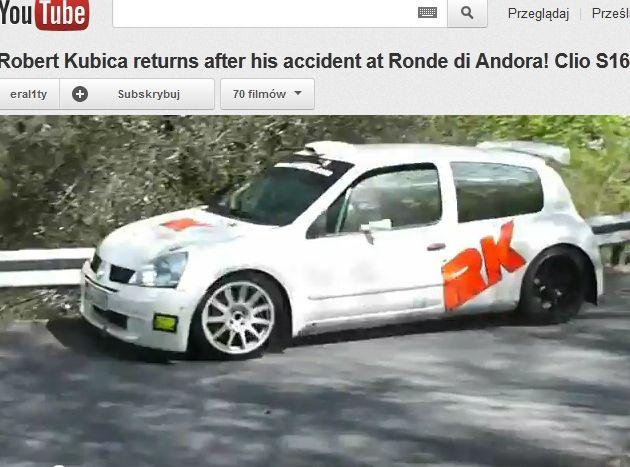 Robert Kubica testuje Renault Clio