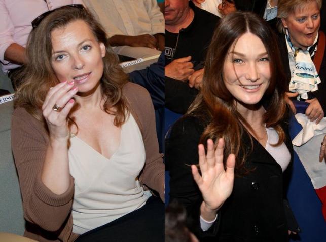 Valerie Trierweiler i Carla Bruni-Sarkozy
