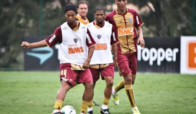 Ronaldinho na treningu Atletico Mineiro
